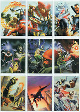 MARVEL SILVER AGE, COMPLETE SET OF 9 ALEX ROSS CARDS