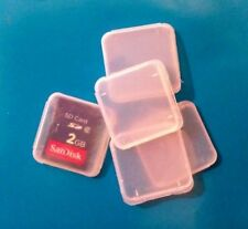 100 x Memory Card Cases for SD SDHC Sandisk Kingston, Samsung 4GB/8GB/16GB Cards