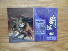 1993 SAVAGE SWORD OF CONAN # 27 CHROME COVER CARD SIGNED BOB LARKIN, WITH POA