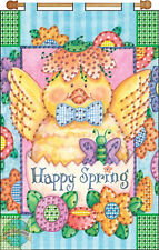 Jeweled Banner Kit ~ Design Works Happy Spring Baby Chick & Flowers #DW9535