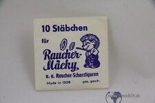 org. Verpackte 10 Stäbchen Zigarette  für Raucher Mäcky DDR Raucher Scherzfigur