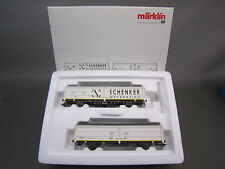MARKLIN HO SCALE 47348 OBB SCHENKER FREIGHT CAR SET