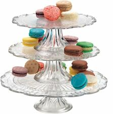 3 Tier Wedding Party Dessert Cookie Cupcake Cake Stand Tower Clear Glass Fancy