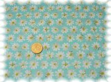 Margaridas Baumwolle-Satin türkis Hilco 50 cm Meterware Blumenstoff Stoff nähen