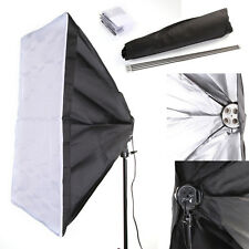 50x70cm Studio Light Photography Softbox Umbrella Fr 4 Socket E27 Lamp Bulb Head