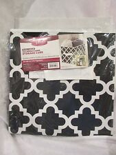 Better Homes and Gardens Collapsible Fabric Storage Cube  Black Trellis NEW