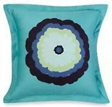 2 Amy Butler DREAM DAISY POPPY Euro Shams Embroidered Floral Blue Purple Organic
