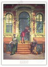 Affiche Guarnido Blacksad Le porche 300ex numérotée signée 50x70 cm