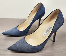 Jimmy Choo Agnes Denim Leather Pointy Toe Pump, Indigo Womens Size 8.5 /38.5