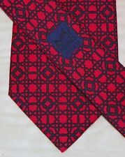 HERMES { PARIS } [ 7821 UA ] men's tie 100% Silk Made in France