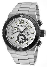 New Mens Invicta 12999 Pro Diver Chronograph Steel Bracelet Watch