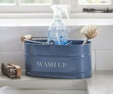 Kitchen sink blue Enamel Washing Up Sink Tidy - Shabby Chic Vintage