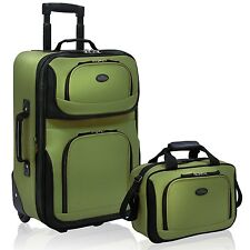 Luggage Set 2pc Expand Carry-On Roll Tote Bag Wheels Suitcase Travel Lightweight