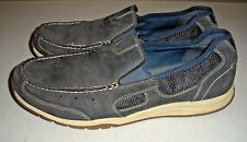 Men's CLARKS Armada Spanish Casual Men Shoes Blue Suede Mesh Leather Size: