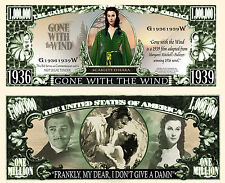 ANTANT EN EMPORTE LE VENT - BILLET MILLION DOLLAR US ! Clark Gable Vivien Leigh