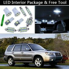 8PCS Bulbs White LED Interior Lights Package kit Fit 03-2008 Subaru Forester J1
