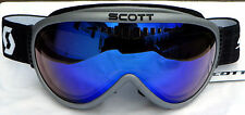 NEW $90 Scott Storm OTG Mens Adult winter goggles over glasses Silver Grey Black