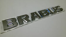 BRABUS CHROME STYLE BADGE MERCEDES BENZ C E CLK SLK ML AMG 220 250 350 CDI C63