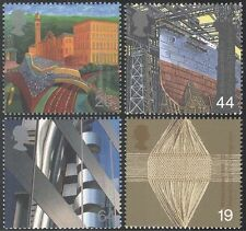GB 1999 Millennium/Ship/Mill/Wool/Bank/Commerce/Industry/Buildings 4v set n29737