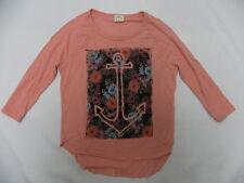 O'Neill Girls Anchor Valley Peach Long Sleeve T-Shirt Tee Sz Medium