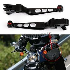 BLACK HAND LEVERS BRAKE LEVER CLUTCH LEVER FOR HARLEY SOFTAIL DYNA DORD KING USA