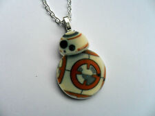 Unusual Star Wars  BB8 Curb Chain Necklace  Free UK Post