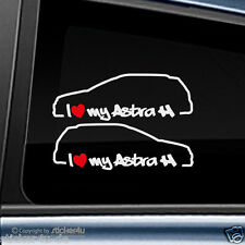 (760) 2x Fun sticker autocollant/I Love My Opel Astra H Caravane OPC