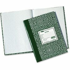 "Lab Notebook, 10-3/8""x7-7/8"", 60 Shts, Green Marble Cover"
