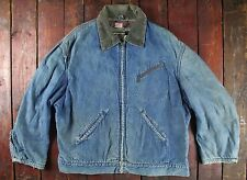 VTG 50s HERCULES SEARS DENIM BLANKET LINED WORKWEAR CHORE JACKET USA SHORT 42