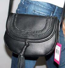 NWT Vince Camuto Tassi Black Leather Tassel Crossbody Shoulder Bag Purse