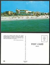 Old Florida Postcard - Clearwater Beach - Port Vue and Quality Inn Hotel