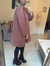 Christian Dior Vintage Rosa Scuro Duster Coat Cape Giacca Medium 12 14 oversize