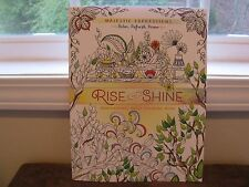 Rise and Shine : INSPIRATIONAL ADULT COLORING BOOK ~Majestic Expressions~