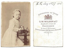 CDV Photo Victorian Child named K.R Jay Carte de Visite by Wilson of Aberdeen