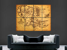 MIDDLE EARTH MAP LORD OF THE RINGS   WALL POSTER ART PICTURE PRINT LARGE