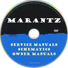 Marantz Hifi Service Manuals & Schematics- PDFs on DVD - Huge Collection