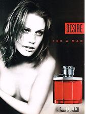 PUBLICITE ADVERTISING  2001    DUNHILL  parfum DESIRE