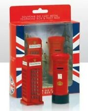 London Metallic Telephone Box & Post Box Set British Souvenir Gift