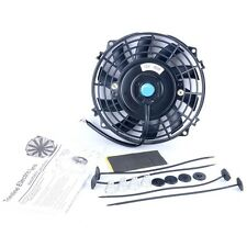 "7"" inch Universal Slim Fan Push Pull Electric Radiator Cooling 12V Mount Kit US"