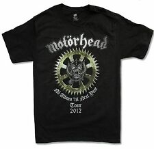 "MOTORHEAD ""NO ALBUM TOUR 2012"" BLACK T-SHIRT NEW OFFICIAL WARPIG ADULT SMALL S"