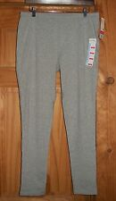 NWT Womens JUNE & DAISY Cotton Leggings Pants Ankle Length Grey Size Large (125)