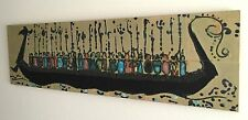 Mid-Century Modern Viking Ship & Warriors Large 14 Tile Wall Art Harris Strong