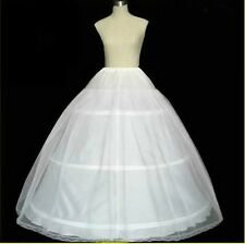 Weiß Neu 3 Ringe 2 Layer Reifrock Brautkleid Ball Petticoat Unterrock Krinoline*