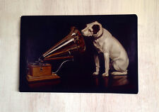 His Masters voice dog vintage style sign A4 metal plaque gift