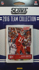 Kansas City Chiefs 2016 Score EXCLUSIVE Factory Team Set Alex Smith Rookies plus
