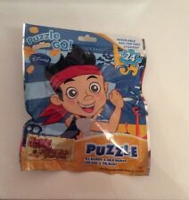 DISNEY JAKE AND THE NEVERLAND PIRATES PUZZLE ON THE GO 24 PIECE RESEALABLE BAG