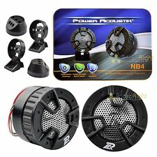"2 New Power Acoustik NB-4 250 Watt 1"" 4-Way Mount Car Dome Super Tweeters NB4"