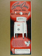 1950 Speed Queen Washing Machine laundry vintage print Ad