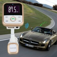 Bluetooth Car FM Transmitter Handsfree MP3 Player Charger Remote for Smart Phone