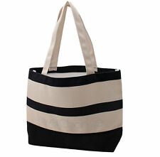 new  woman's Stripes Print Ladies shoulder  shopping canvas Tote Bags